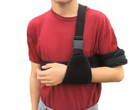Arm Sling Shoulder Brace. Arm & Shoulder Immobilizer. Fully Adjustable Rotator Cuff & Elbow Support. for Men & Women
