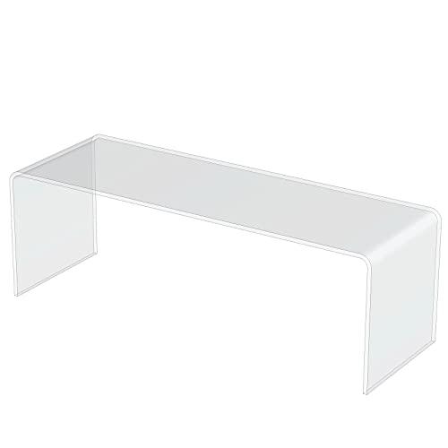 Clear Acrylic Plastic Cabinet Display Stand - Exhibition Riser Plinth Bridge (30cm*10cm*10cm, Max Load 0.5kg)