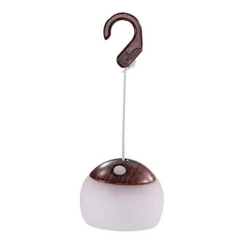 Lámpara LED para tienda de campaña, portátil, para colgar al aire libre, para viajes, pesca, senderismo, fiesta (marrón)