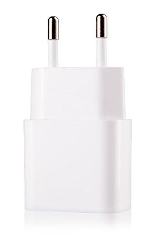 USB Adaptador 5V // 1A Samsung Galaxy Negro Huawei iPhone MyGadget Cargador Plug Universal Smartphone y Tablet Enchufe de Pared para Apple iPad