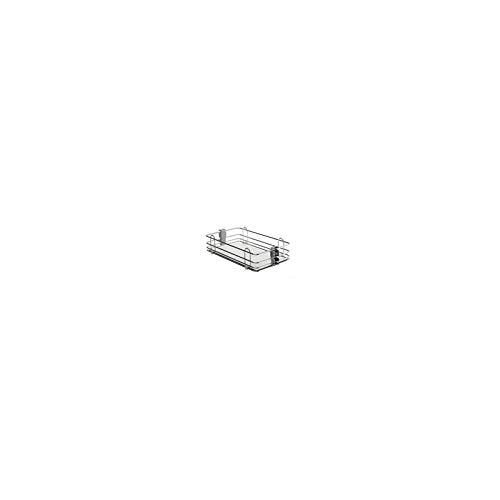 Corbeilles fil - Version : Fil plat - Décor : Blanc/Fil chromé - Pour caisson de largeur : 300 mm - Largeur : 240 mm - Matériau : Mélaminé/Acier - VIBO