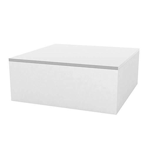 Vondom Quadrat Table Basse pour l'extérieur 80x80 h.32 cm Blanche