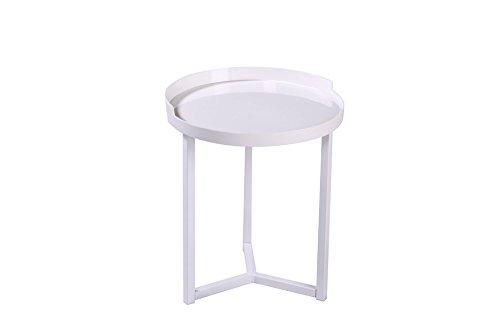 Homemania salontafel Dioniso, voor woonkamer, kantoor, nachtkastje, nachtkastje, 40 x 47,5 x 40 cm, wit