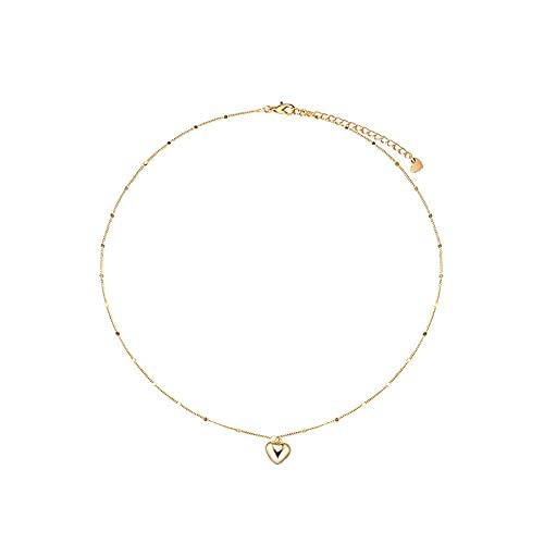 Collar de plata de ley 925 con dije de corazón, collares pendientes para mujer, cadena de clavícula, accesorios exquisitos