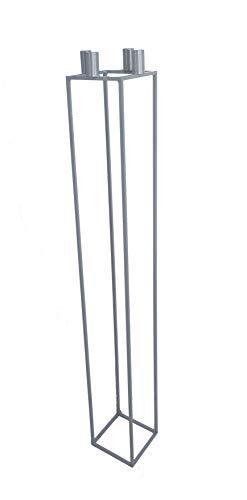 tradeNX NX® Design Kerzenständer Kubus Cube Silber (115cm)