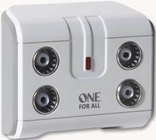 Signal-Booster / -Splitter für Fernseher von One For All 4-Fach weiß