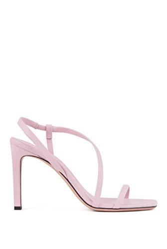 BOSS Damen Kristin Sandal 90-C High-Heels aus Nappaleder mit asymmetrischem Riemen und hohem Absatz Größe 38.5