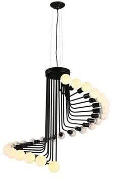 CNRRT Altillo país araña café Bar Restaurante de Caracol de Hierro Forjado Escalera de América Cosecha Museo Lámpara Lámpara E27 * 26 rotativa Industrial lámpara Escalera Negro