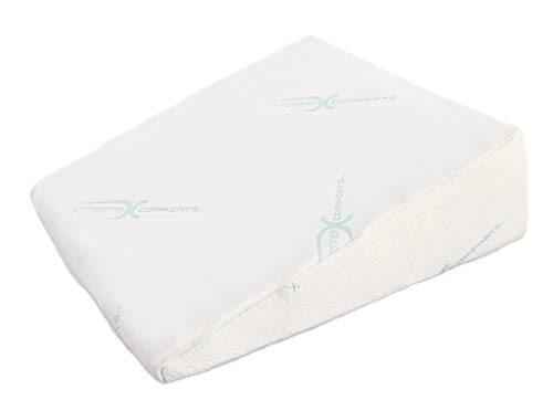 """Xtreme Comforts Wedge Pillows - 7"""" Memory Foam Bed Wedge Pillow for Sleeping - Great for Acid Reflux, Snoring, Back Pain, and Heartburn (1Pk)"""