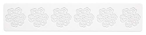 Städter Blüte Bordüren- Matte, Silikon, Weiß, 39,5 x 8 cm