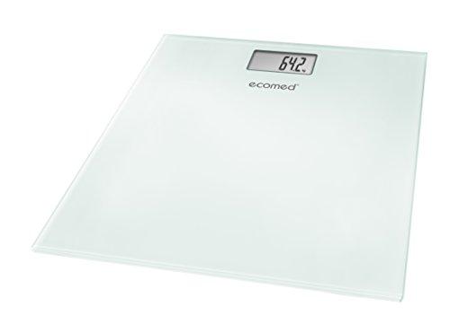 Ecomed PS-72E Báscula personal digital, hasta 150 kg, báscula de baño de vidrio con desconexión automática