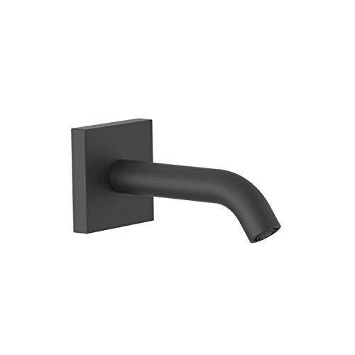 Caño fijo de pared, 20,7 x 7,4 x 7,4 centímetros, acabado negro mate (referencia: 21018107NM)
