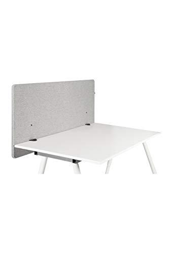 hjh OFFICE Akustik Trennwand Schreibtisch FLEXMIUT D 62 x 120 cm Stoff Hellgrau Sichtschutz Tischtrennwand 891008