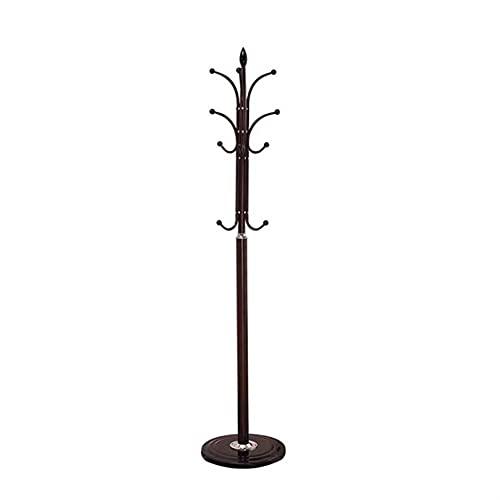 LZL Moderno de la Capa de Hierro, Soporte de Abrigo, árbol de la Capa de salón de pie con 8 Ganchos para Abrigos, Sombreros, Bolsas, Bolsos, para Entrada, Pasillo (Color : Black)