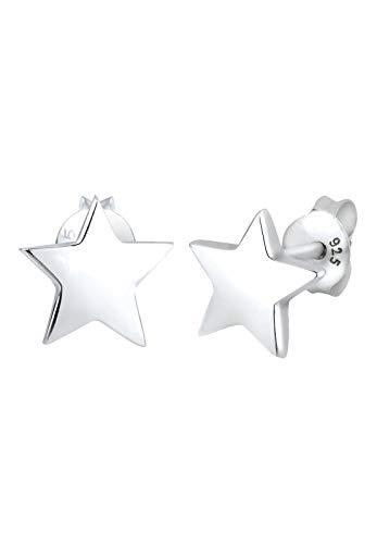 Elli Pendientes Mujer Pendientes con Estilo de Estrella en Plata Esterlina 925