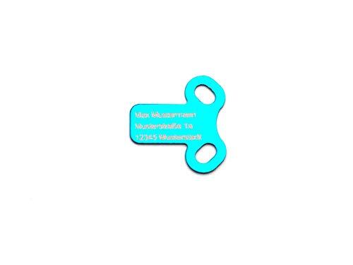 CopterFarm Copter - Placa de identificación en forma de T, 1 unidad, color azul, FPV Racer, Copter, drones