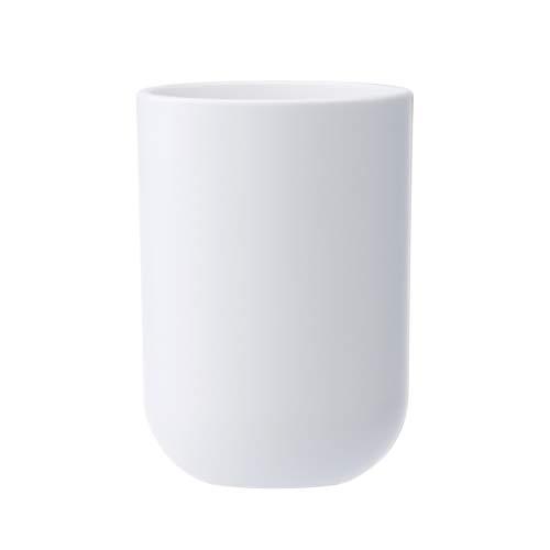 UVIVIU Barthroom Cups, Plastic Toothbrush Holder, Tumbler Cup, 350ml (White)