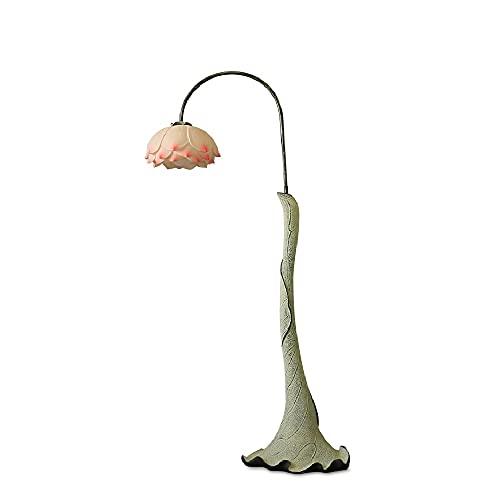 CHENJIA Creativa china lámpara de pie, resina + Hierro LED doblado y dormitorio desmontable de la sala la decoración del hogar de la lámpara 100 * 49 * 171 Cm