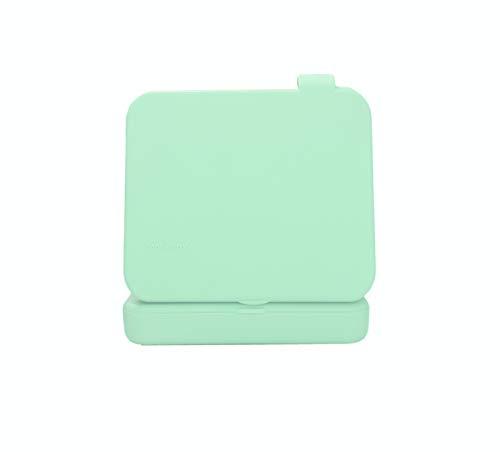 ECODEPIL Porta mascarillas - Pack de 2 Estuches - Caja para mascarillas Reutilizable- Ideal para Guardar Tus mascarillas- Protección asegurada Fácil de Limpiar- Color Verde Claro