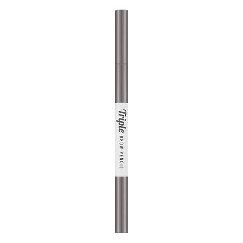 何逸話責任MISSHA Triple Brow Pencil/ミシャ トリプル ブロウ ペンシル (#Gray Brown) [並行輸入品]