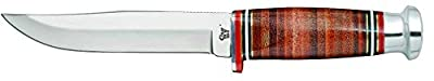 CASE XX WR Pocket Knife Fixed Blade Leather Hunter with Mushroom Cap(365-5 SS) Item #10343 - (365 5 SS) - Length Closed: 9 Overall Inches