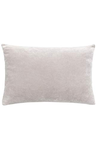 Reversible velvet & linen pillow