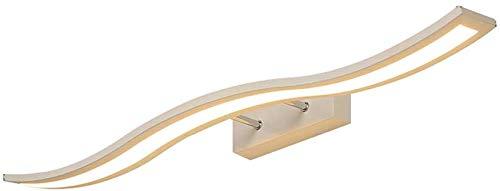 Spiegellamp badkamer LED spiegelkast licht gebogen badkamer make-up lamp Rollsnownow (kleur: warm licht, maat: 60cm)