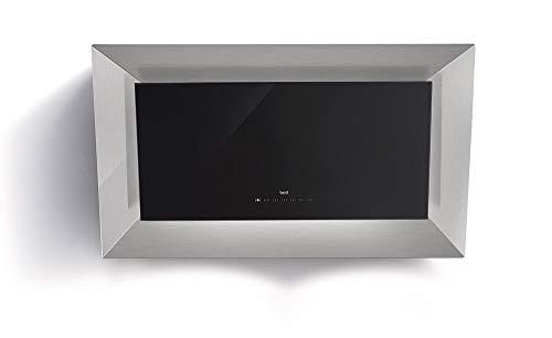 Best 07F65000a Frame HF XS pared Campana/acero inoxidable + cristal/negro/90cm