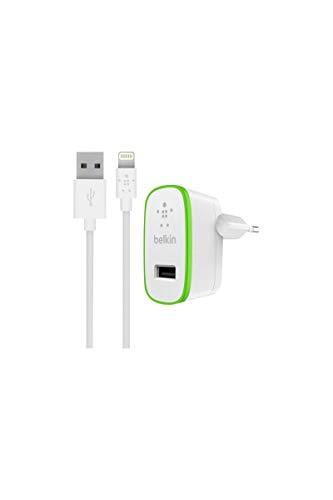 Belkin Boost up USB-Ladegerät Netzladegerät (inkl. 1,2m Lightning Kabel, 2,4A, 12 Watt, geeignet für iPhone 11, 11 Pro, 11 Pro Max, XS, XS Max, XR, X, SE, 8/8 Plus, anderer Smartphones / Tablets) weiß