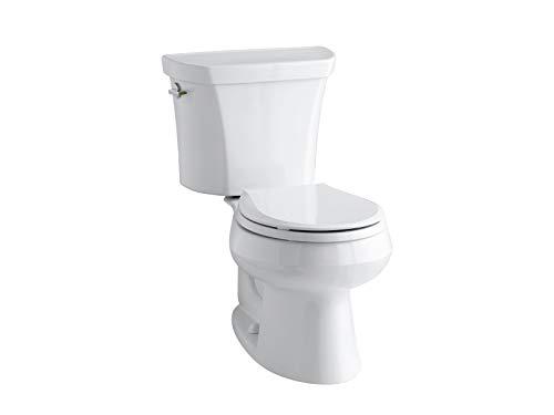 KOHLER K-3987-0 Wellworth Two-Piece Round-Front Dual-Flush Toilet