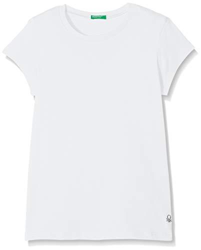 United Colors of Benetton T-Shirt Camiseta de Tirantes, Blanco (Bianco 101), Talla única (Talla del Fabricante: 2Y) para Niñas