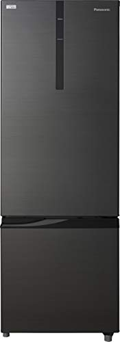 Panasonic 296 L 2 Star Frost Free Double Door Refrigerator(NR-BR307RKX1, Black, Inverter Compressor,...