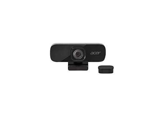 Acer QHD - Webcam per conferenza, 5 megapixel, 30 FPS, grandangolo da 70°, microfono integrato di cancellazione del rumore, compatibile con Win, Linux, Mac e Android, colore: Nero