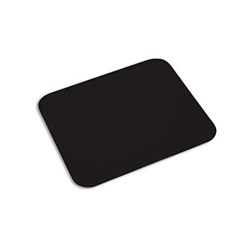 LaTienda23 Alfombrilla de Ratón Pequeña Extrafina para Computadora con Base Antideslizante en Silicona Ultradelgada Mousepad Rectangular (Negro)