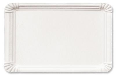 1000 Pappteller 13 x 20 cm eckig weiß