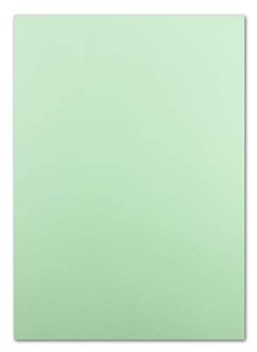 50x DIN A4 Papier Planobogen -mintgrün - 110 g/m² - 21 x 29,7 cm - Ton-Papier Fotokarton Bastel-Papier Ton-Karton - FarbenFroh