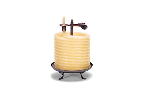 Candle by the Hour 60-Hour Candle, Eco-friendly Natural Beeswax with Cotton Wick