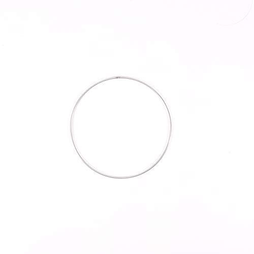 Vaessen Creative Anello Metallico per Lavori d'Artigianato, Ø 15 cm, Spesso 3 mm, per Acchiappasogni, Anello Ghirlanda per Wall Hanging, Uncinetto, Decorazioni bohémien, per Matrimoni e molto altro