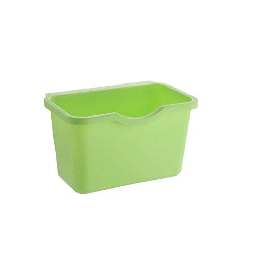 Cubo de basura para colgar en puertas de armario de cocina, almacenamiento de residuos vegetales y alimentos y residuos de alimentos. Educación musical Concierto curación mental (color verde)