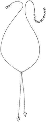 Mxdztu Co.,ltd Collar Simple Collar de Mujer Colgante de triángulo Doble Oro Plata Collar Largo Vestido de Encanto Femenino Accesorios de decoración