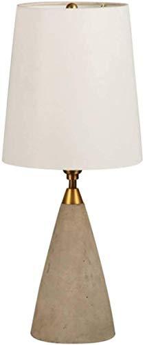 Retro Loft Wind Cement Lámpara de cono octogonal Personalidad creativa Lámpara de mesita de noche Lámpara de lectura de ojos creativos 23 * 56 cm (E12 * 1)