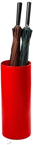 Yxsd Paraguas con Forma cilíndrica Stand-Paraguas Cubo Home Hotel Vestíbulo Paraguas de Almacenamiento Pail (Color : Red)