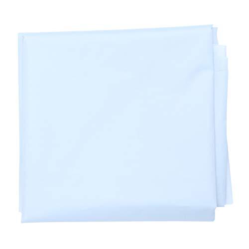 PRETYZOOM TPU Tuch Einweg Meterware Stoff Wasserdicht Atmungsaktiv Bettlaken Tischdeckenrolle Quadrate Patchwork für DIY Basteln Nähen Bettlaken Kleidung Verpackung 3m Blau