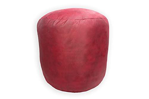 Acomoda Textil - Taburete Redondo, Puff Bajo Acolchado, Resistente y Cómodo. Silla Reposapiés Elástica. Asiento Decorativo...
