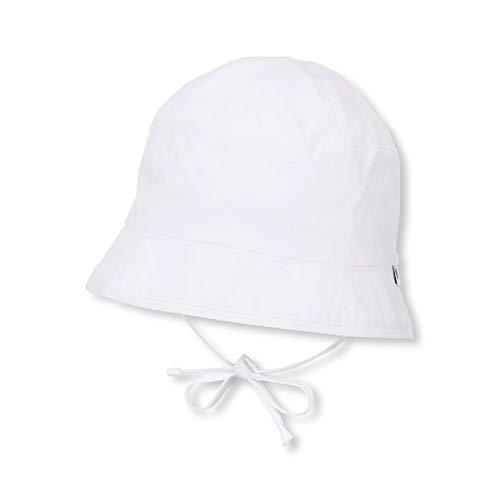 Sterntaler Unisex Fischerhut mit Bindebändern und versteckbaren Ohrenklappen, Alter: ab 6-9 Monate, Größe: 45, Weiß