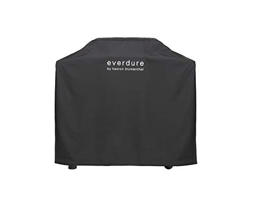 Everdure by Heston Blumenthal Force Freestanding Gas Grill Long Cover, Durable Straps, Waterproof Lining and 4 Season Protection, Black Grills Propane