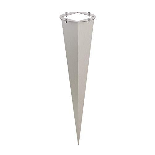 ledscom.de Garten-Erdspieß aus Edelstahl, 40cm