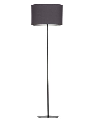 Modernluci staande lamp moderne staande lamp voor de woonkamer, slaapkamer lampen, tijddicht staande lamp Scandinavische stijl met stoffen kap ø40 cm hoogte: 143 cm Wit Zwart Grijs MEHRWEG