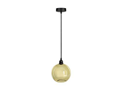 ANDREA HOUSE - Lámpara de Techo con Pantalla Redonda de Vidrio Color Oro Ø20x26cm