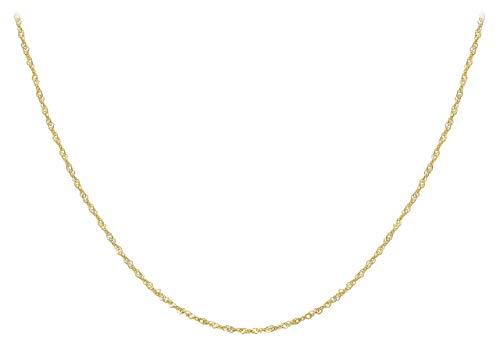 Carissima Gold Collar de mujer con oro amarillo de 9K (375/1000), sin gema, 46 cm
